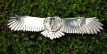 Barn owl hairslide HS03